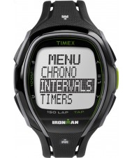 Timex TW5K96400 Ironman 150-lap full size strak zwart kunststof bandje chronograafhorloge